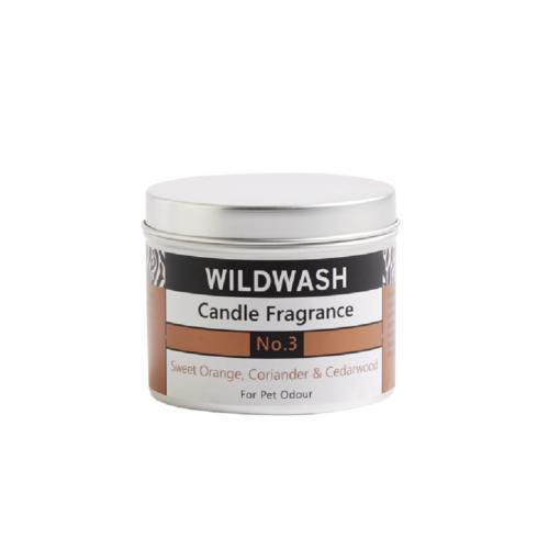 WildWash三號香氛蠟燭(甜橙、芫荽、雪松)190g