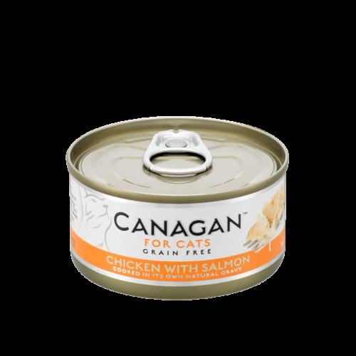 卡納根雞肉佐鮭魚(貓)75gx12入