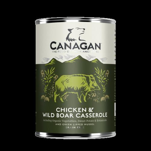卡納根放山雞與野豬燉罐(犬)400g