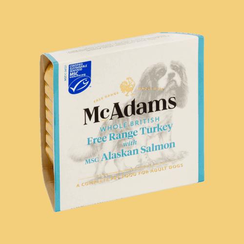 麥卡登自由放養火雞佐MSC阿拉斯加鮭魚(犬用)150g